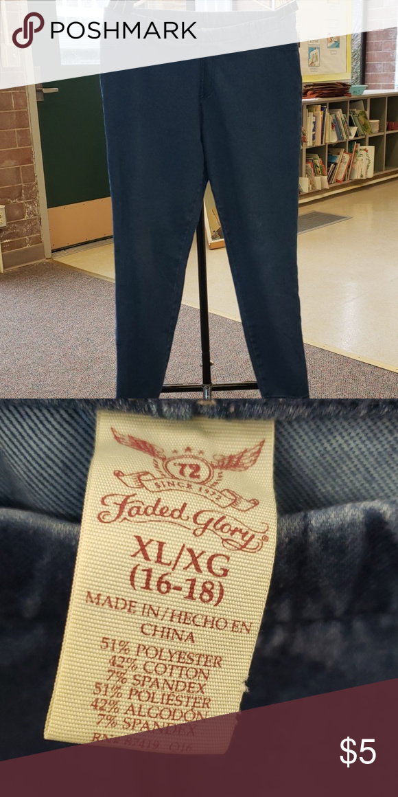 72631d13a1120 Faded Glory Jeggings, XL Faded Glory Jeggings, XL (16/18) Faded Glory Pants  Leggings