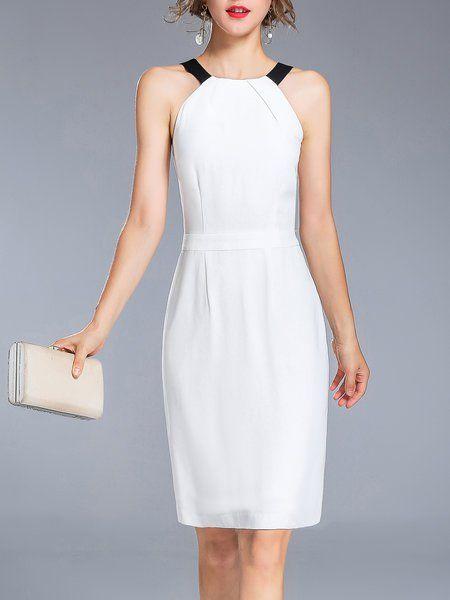 f5cc8e2d0e Shop Midi Dresses - White Elegant Halter Midi Dress online. Discover unique  designers fashion at StyleWe.com.