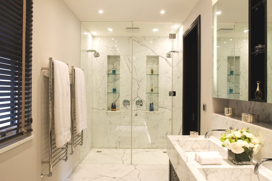 Double shower master ensuite dream home pinterest for Master bathroom ensuite