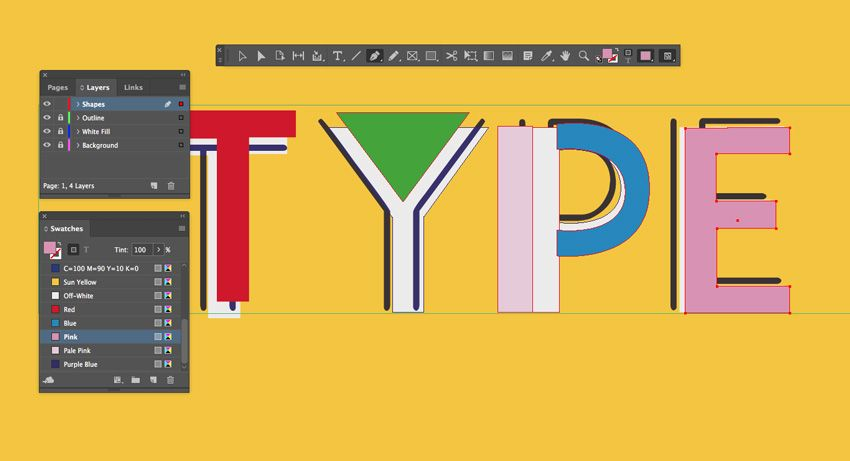 How To Create A Bold 90s Text Effect In Adobe Indesign Text Effects Indesign Adobe Indesign