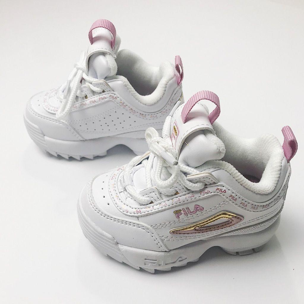 Fila Shoes   Baby Girl Fila Disruptor 2 White Chunky