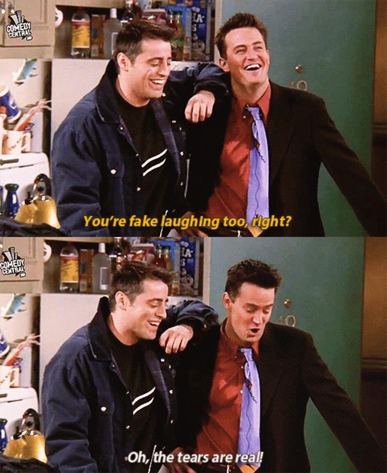 Chandler Bing And Joey Tribbiani Friends Series Telas Favoritos