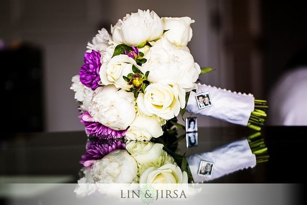 Wedding Bouquet With Photo Charms By White House Florist In