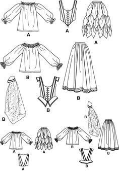 free easy corset pattern  click to magnify/shrink