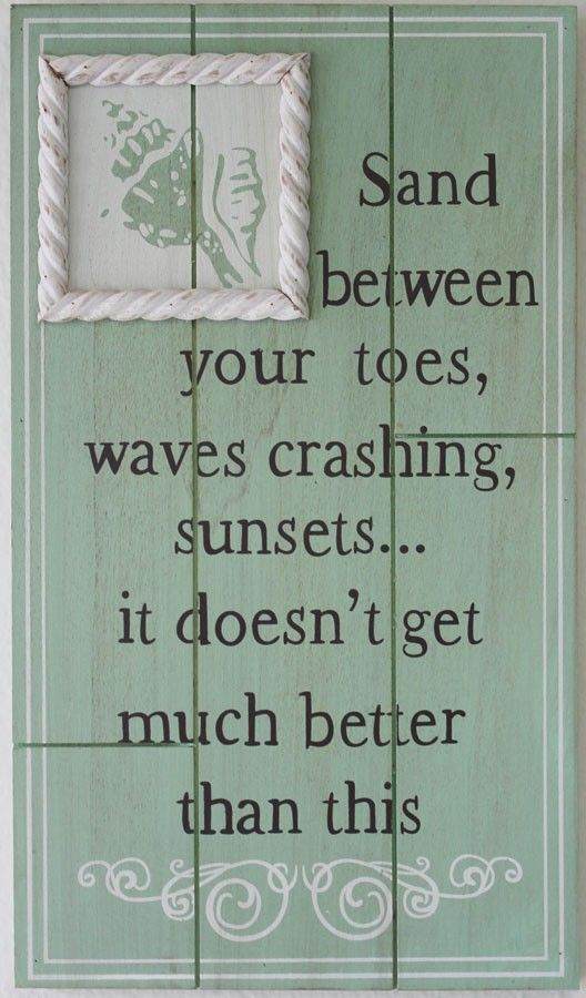 Sand Between Your Toes Wood Plaque