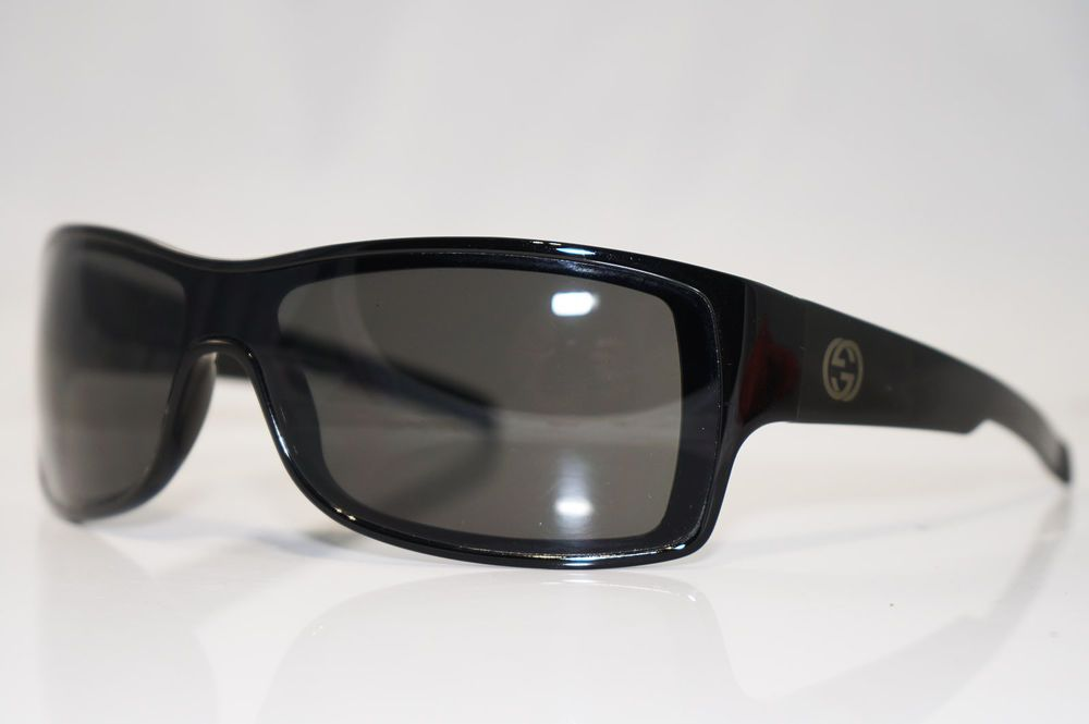 fd53db2723d GUCCI Vintage Mens Designer Sunglasses Black Shield GG 1463 584 16519 (eBay  Link)