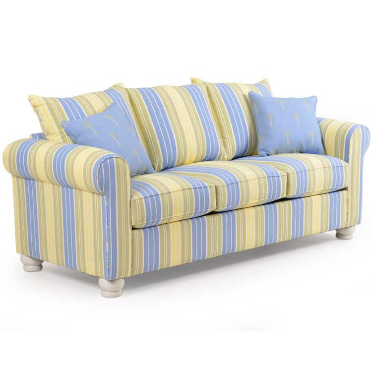 Coastal Cottage Striped Queen Sleeper Sofa Leaders Casual Furniture