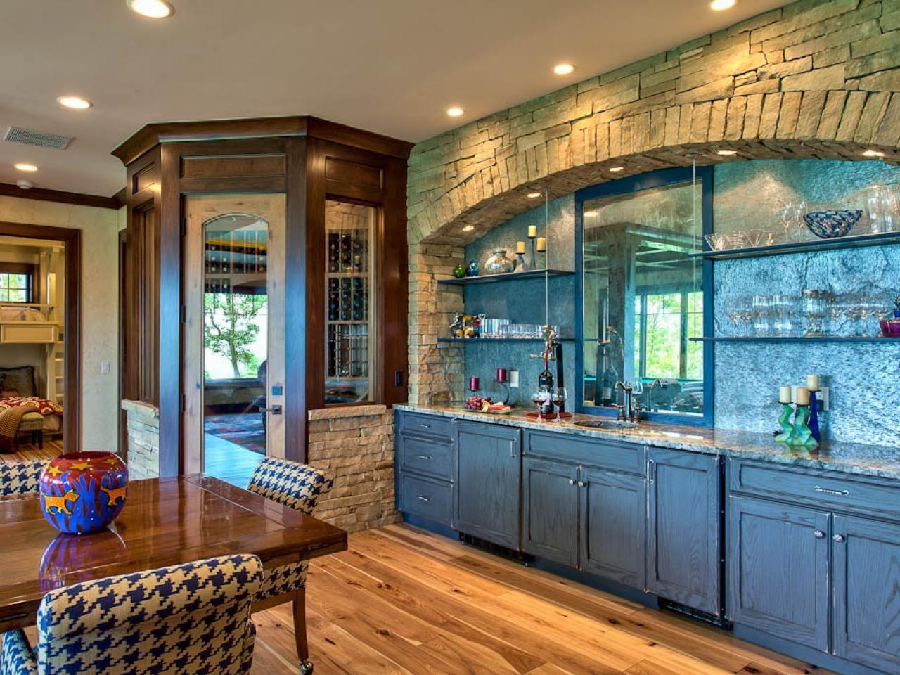 Image result for blue stained vintage cabinets | idées cuisine ...