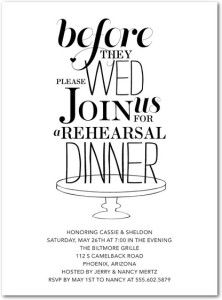 10 affordable places to find rehearsal dinner invitations wedding