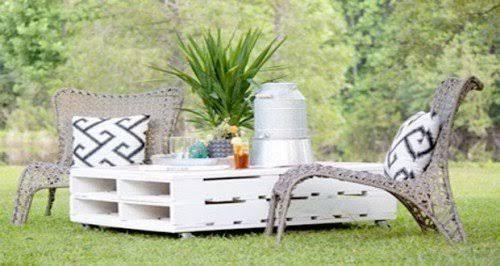 Aménager son jardin avec des meubles en palettes bois Gardening