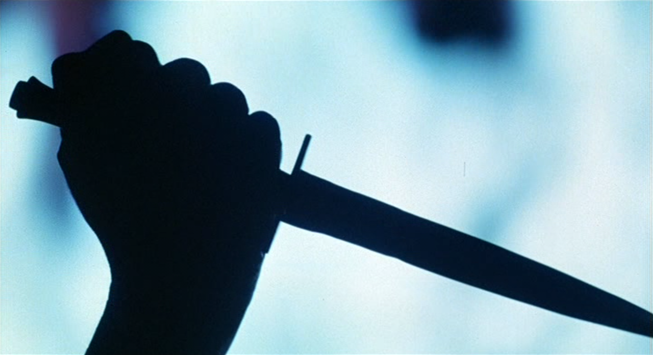 #horror #video #vhs #screencap #screen #grab #knife #silhouette #deadly  #weapon #The #Beastmaster