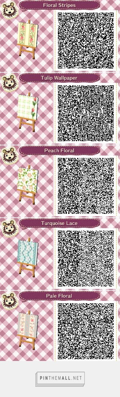 ACNL/ACHHD QR CODEWallLovely floral elegant wallpaper