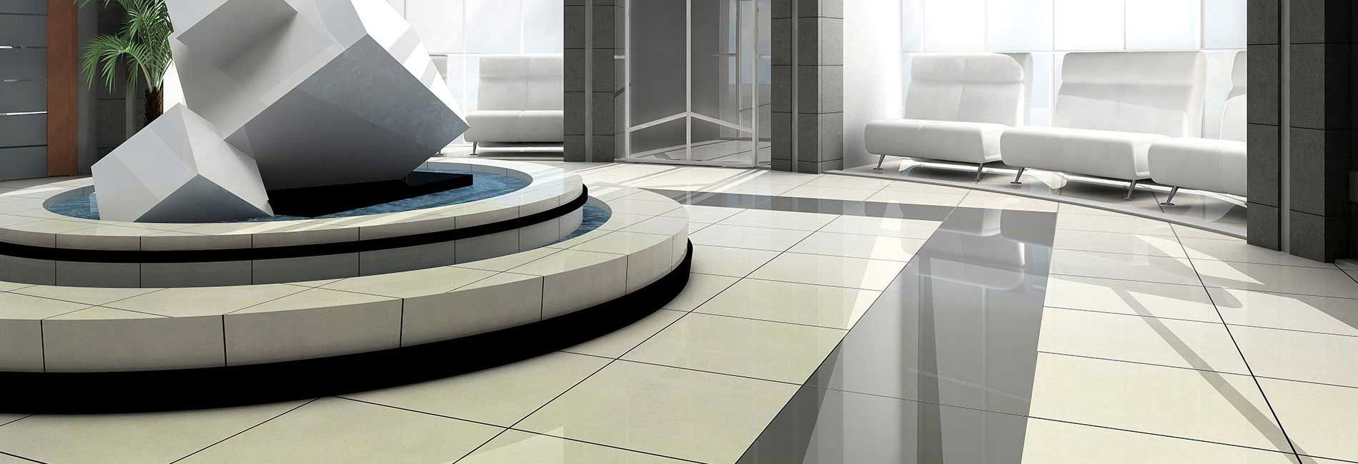 Beautifully Designed Corporate Office Entrance Hall With Vitrified
