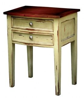 Colonial Bow Front Side Table