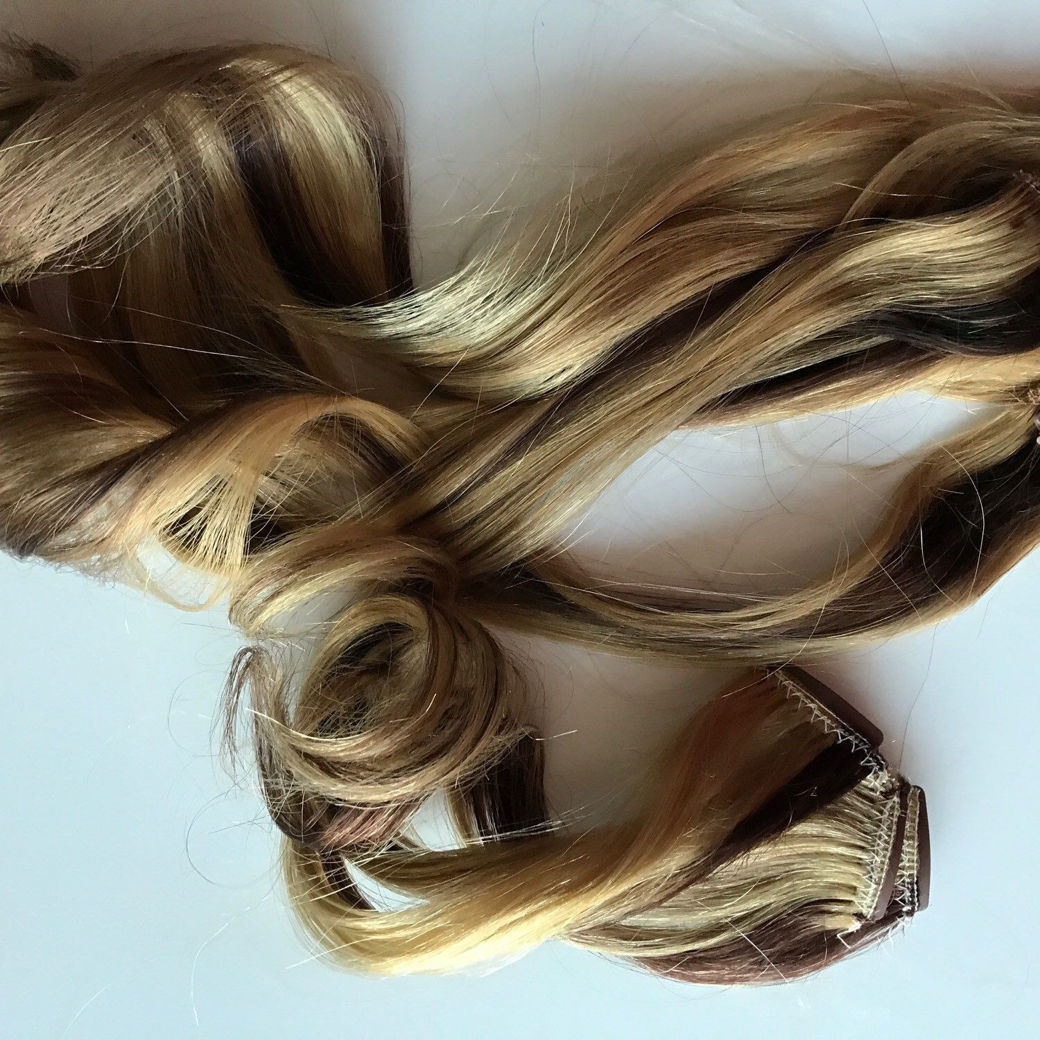 Custom Clip In Human Hair Extensions Streaks Fringe Bangs Clip In