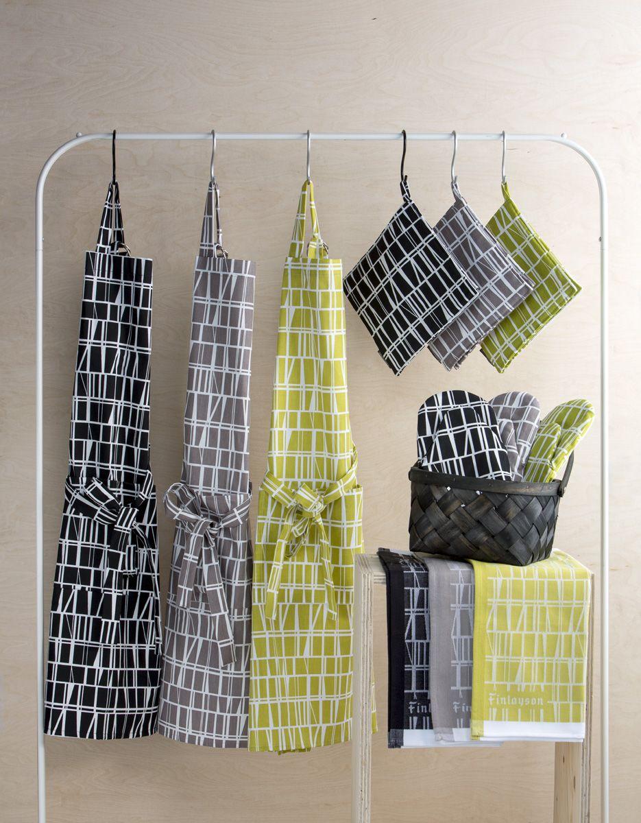 Coronna kitchen textiles   Coronna-keittiötekstiilit design Aini Vaari