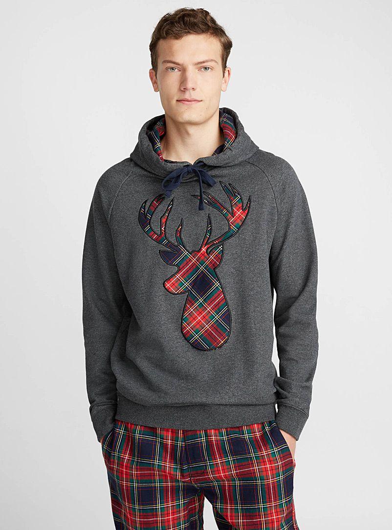 Tartan deer lounge hoodie Simons Christmas Men