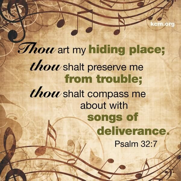 Psalm 32:7 | Psalms verses, Psalms, Scripture verses