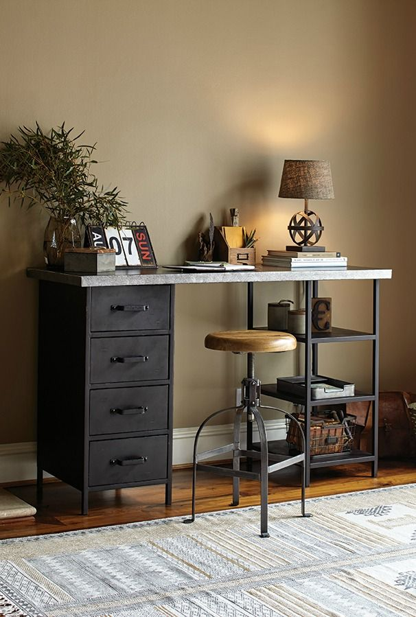 With Well Designed Office Chairs Wood Desks Rustic Bookcases Shelves Lamps