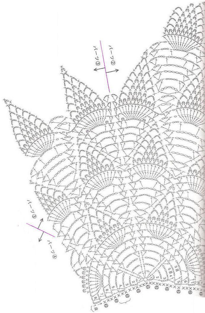 Crochet Shawls Crochet Pineapple Lace Womens Cape Crochet