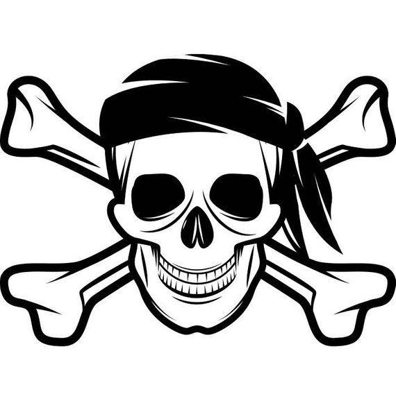 Pirate Skull 3 Crossbones Cap Hat Jolly Roger Ship Boat Boating Sea Ocean Nautical Svg Eps Png Digital Clipart Vector Cricut Pirate Skull Pirate Art Skull