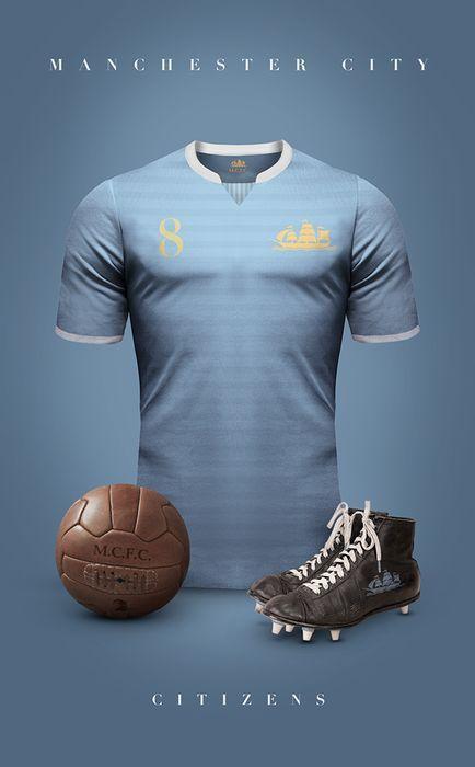 Top 20 des superbes maillots de foot vintage, imaginés par Emilio Sansolini - Manchester City