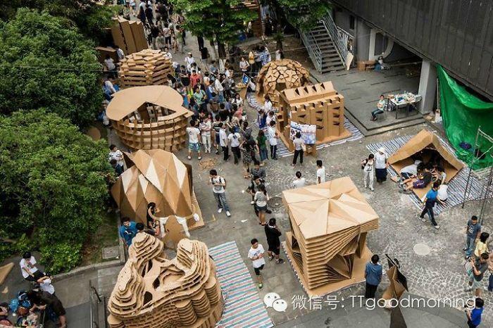 Amazing Cardboard House Exhibition Cardboard Design Pavilion Design Cardboard House