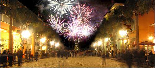 Celebration Christmas Fireworks And Snow New Year S Eve Celebrations Celebration Fl Celebration Florida