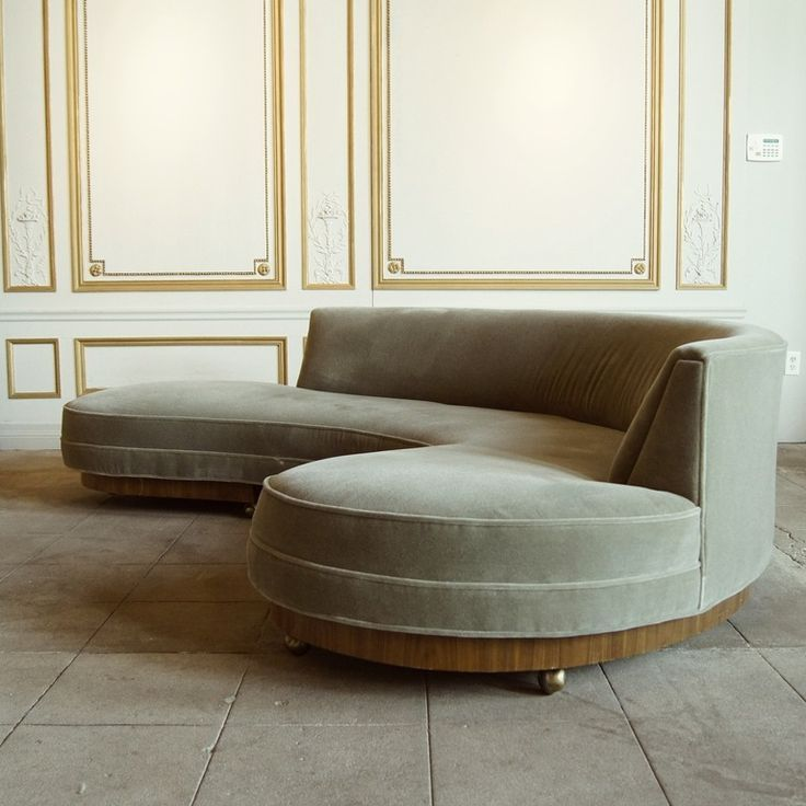 Modern Chairs Top 5 Luxury Fabric Brands Exhibiting At: Early Vladimir Kagan Sofa, Circa 1950