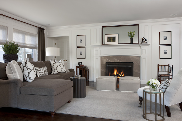 Best Chic Living Room With White Tufted Slipper Chair And Round 400 x 300