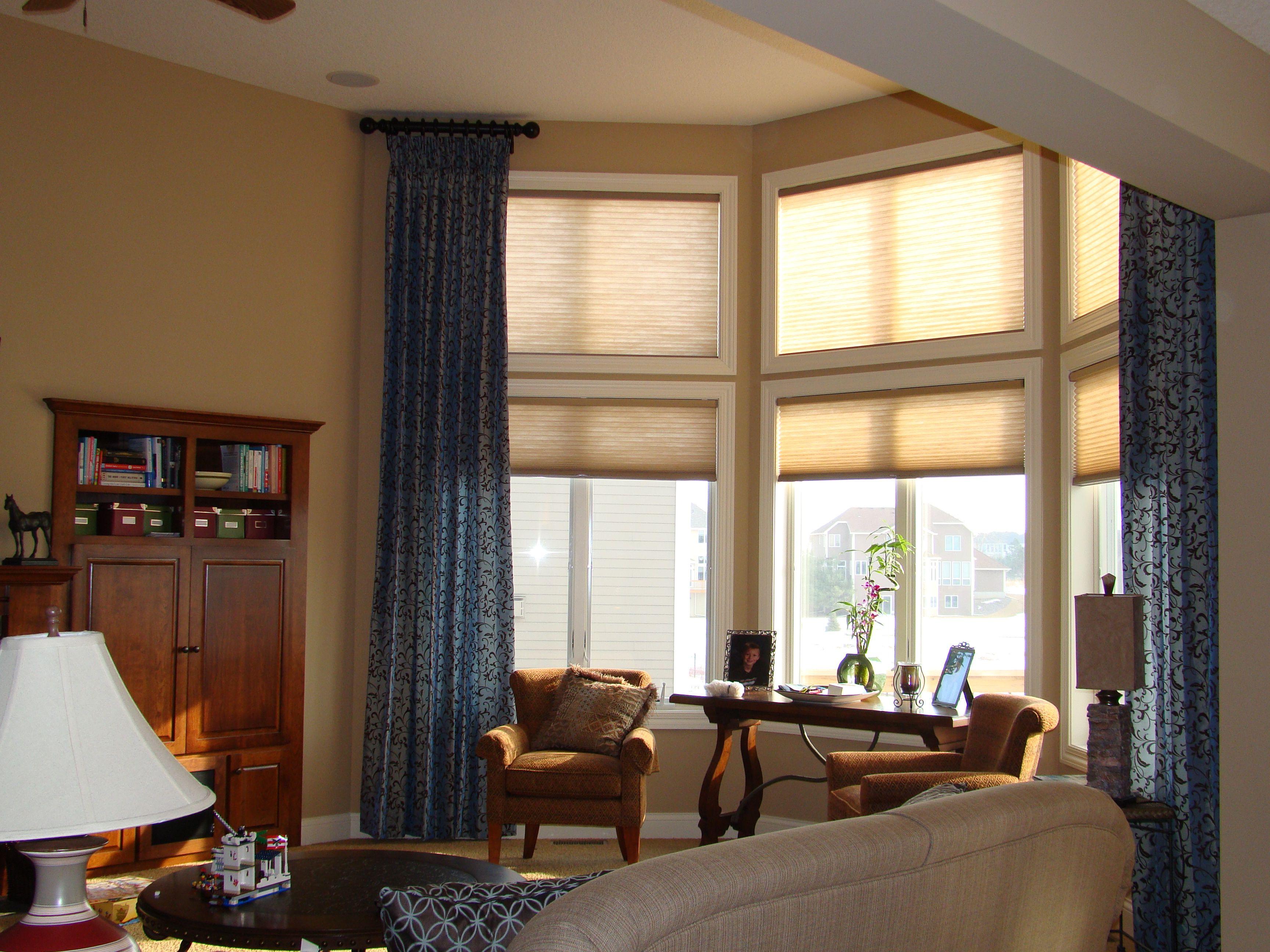 Double Rod Curtain Ideas Decoration Ideas Curtains For Tall