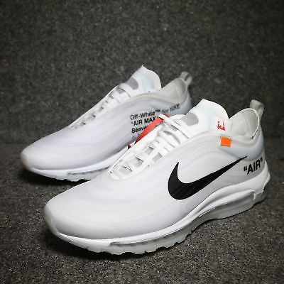 Off White X Air Max 97 White Cone Ice Blue Shoes Mens