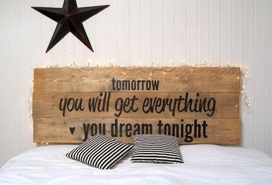 cabeceras de cama con letras buscar con google