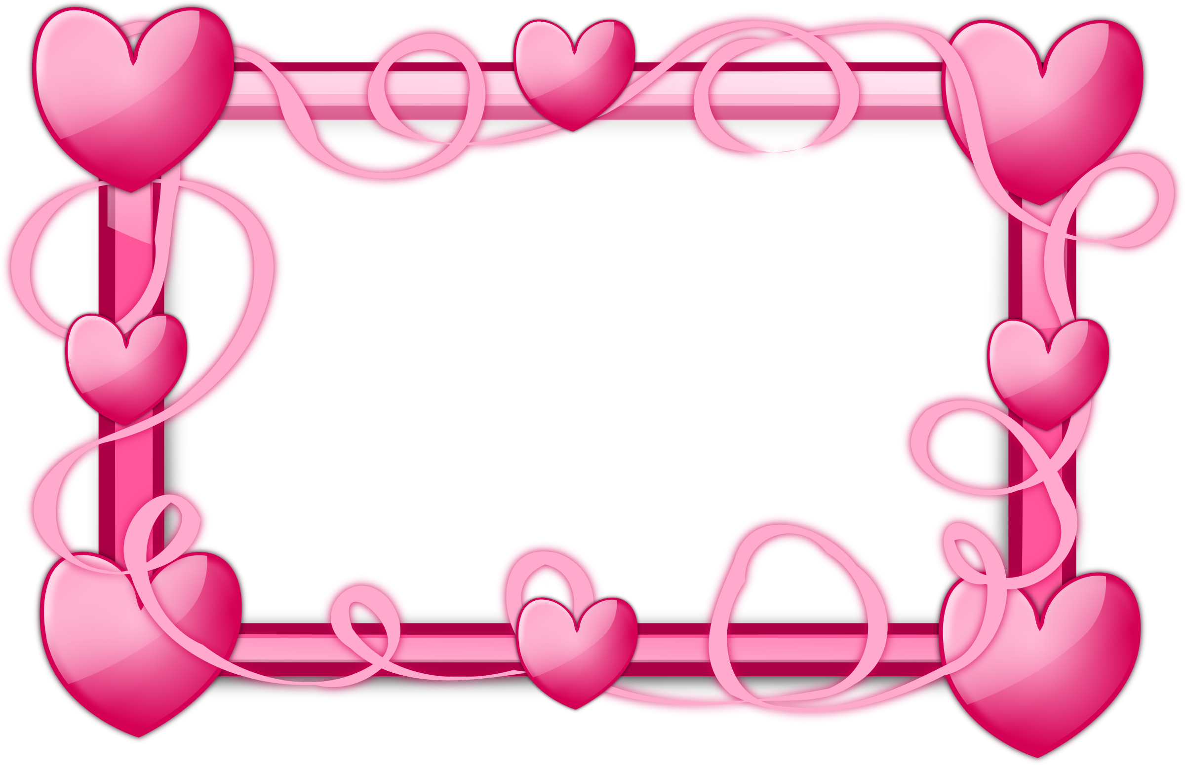 Pink Hearts Frame by @inky2010, Glossy Transparent Frames, on ...