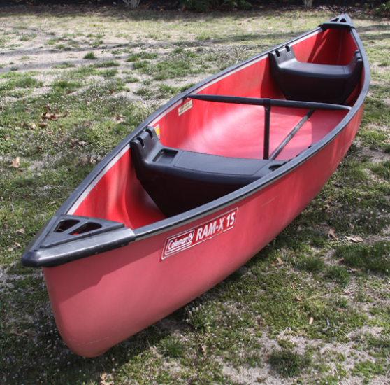 15 Ft.Coleman Co.Ram X 15,Red Canoe,Water Boat,CLEAN | Canoe