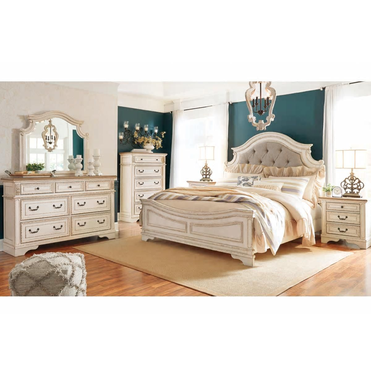 Signature Design by Ashley Realyn 4 Piece King Panel Bed