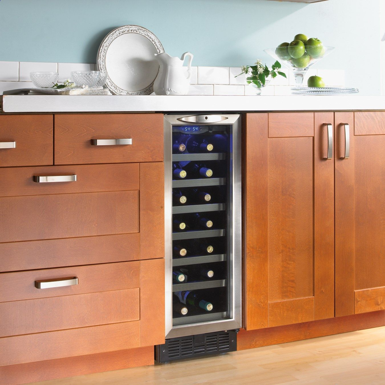 Wine fridge in the cabinets or island. | Wine Fridge | Pinterest | Küche