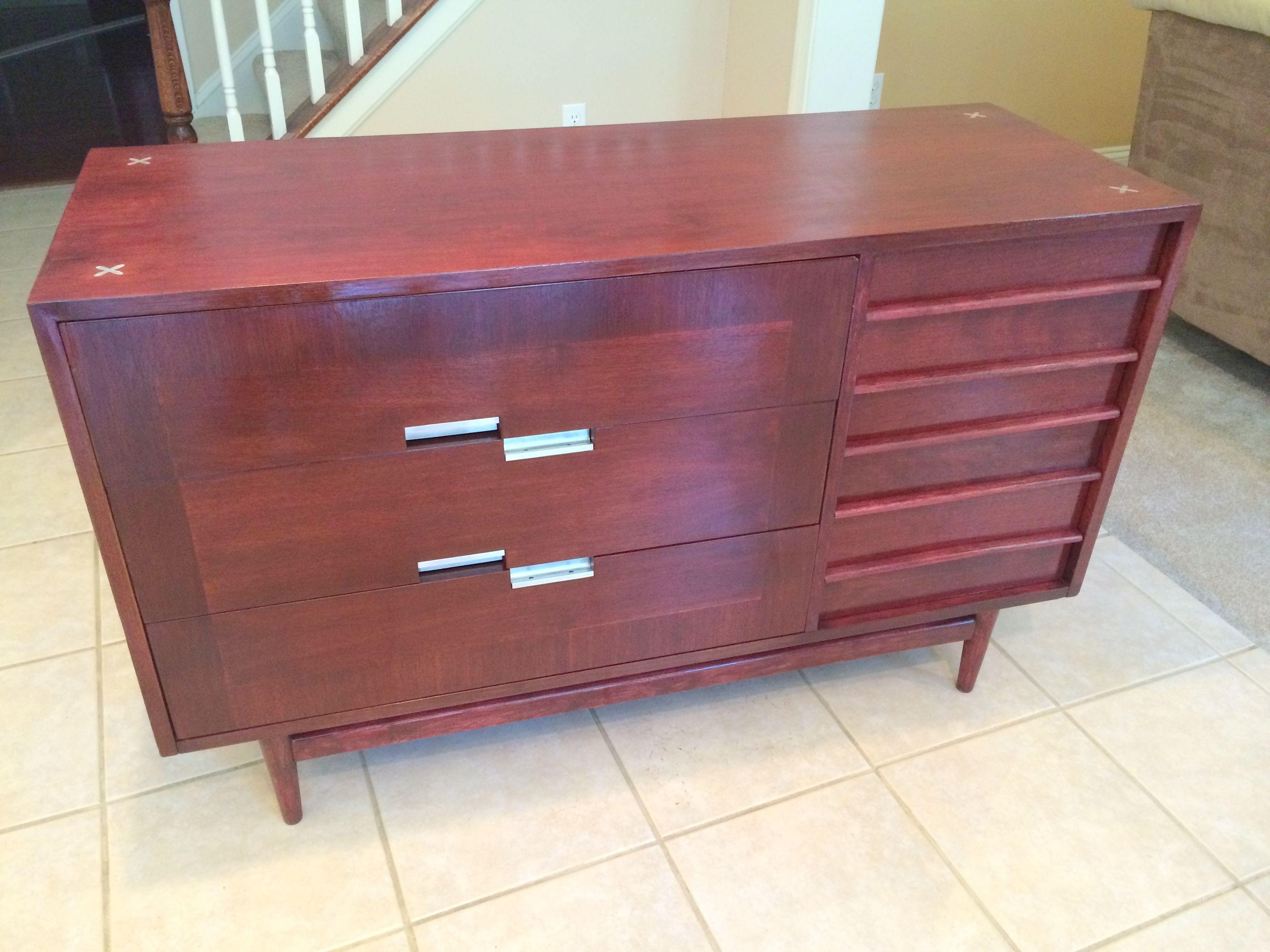 Restored American Of Martinsville X Series Small Dresser/credenza