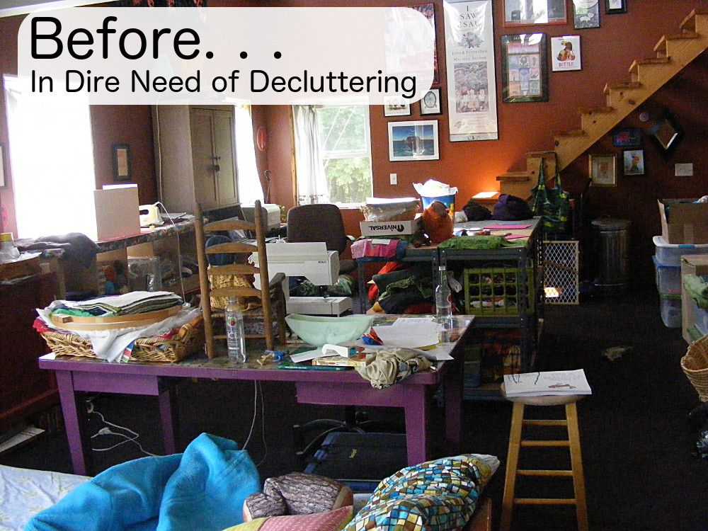 how to declutter a craft room organizing sewing room organization sewing rooms sewing spaces. Black Bedroom Furniture Sets. Home Design Ideas