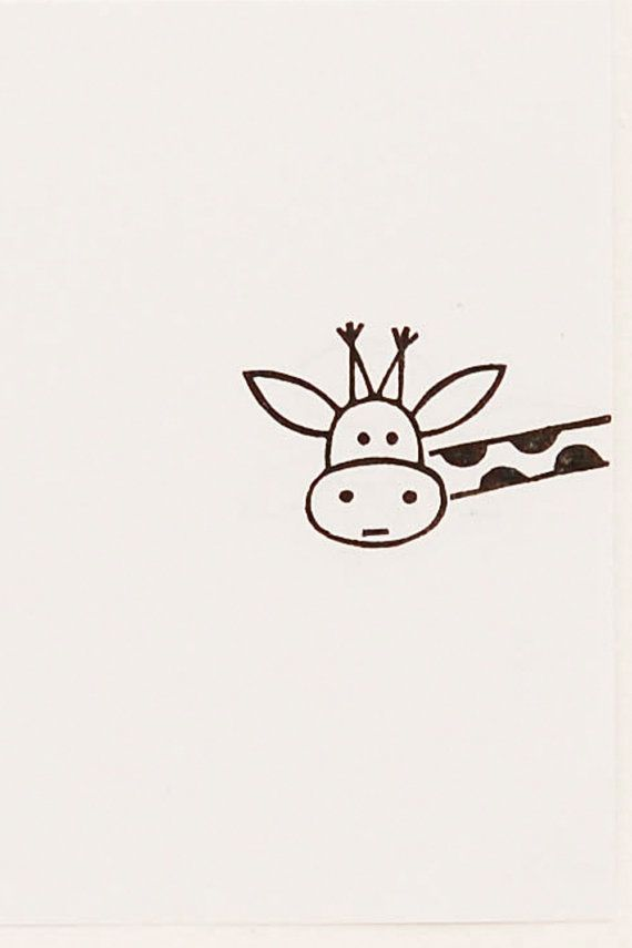 Cutest giraffe is here to cheer you up! Just put this funny face on a paper edge - and he will never fail to make you smile ;) The stamp is caved