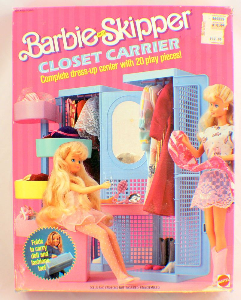Barbie Wohnzimmer 90er Barbie And Skipper Closet Carrier New In Original Box Dress Up