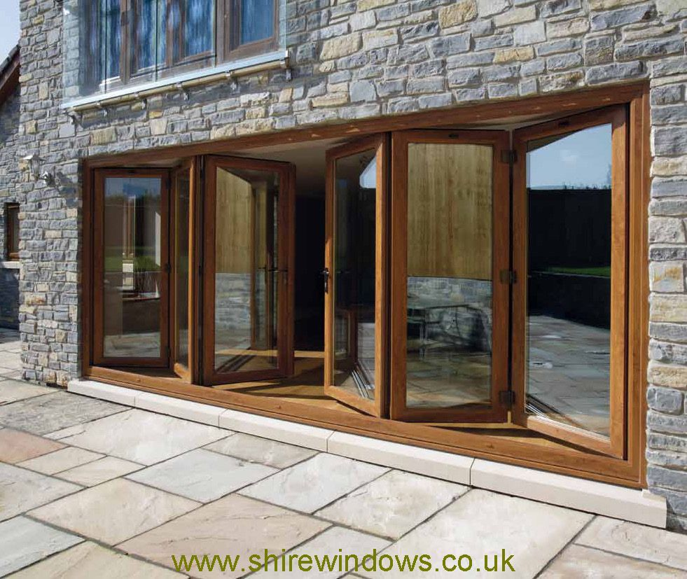 wood bifold - between future patio and kitchen | Exterior of house ...