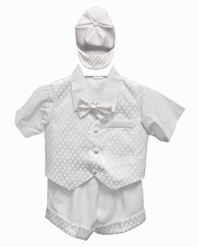 d69b3fb80 White Baby Boy Tuxedo Short Suit Set