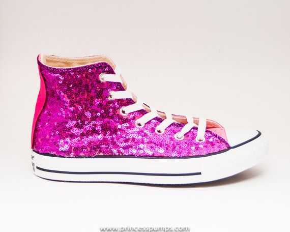 5d909b5ccf33 Sequin Hot Fuchsia Pink Converse All Star Hi Top by princesspumps ...