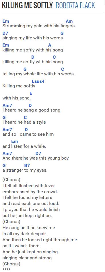 Easy - Killing Me Softly at Chordie.com   Guitar Songs   Pinterest ...