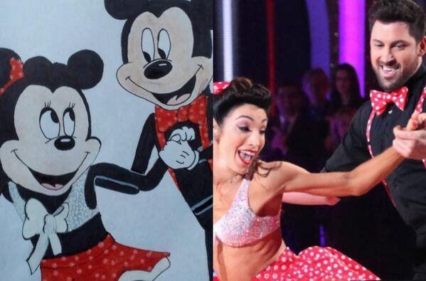 Maks Chmerkovskiy Meryl Davis Spend A Weekend Apart But: Meryl And Maks As Minnie And Mickey