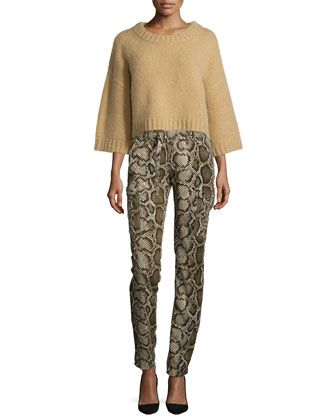 19479068fb5 Shaker-Stitch+Cropped+Sweater+ +Mid-Rise+Python-Print+Cargo+Pants+by ...