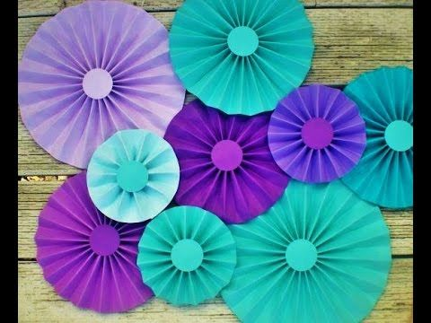 Diy Paper Crafts How To Make Simple Paper Rosettes Spring