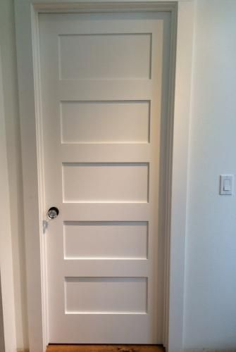 Masonite 30 In X 80 In Mdf Series Smooth 5 Panel Equal Solid Core Primed Composite Interior Door Slab 14117 The Home Depot Doors Interior Masonite Interior Doors Interior Door Styles