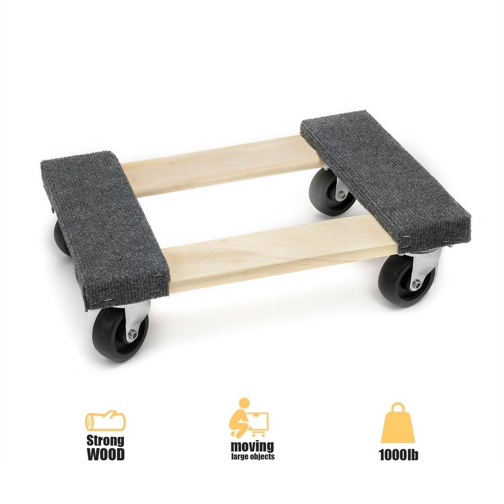1pc 12 X18 Mover Moving Furniture Handle Dolly Swivel Casters 1000lb Capacity Unbranded Furniture Handles Moving Furniture Furniture Movers